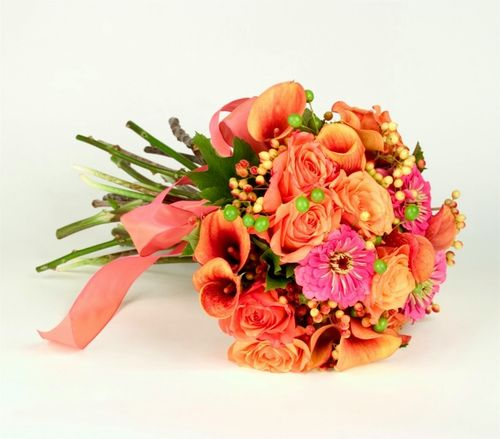 Blog #249 - Orange Pink Bouquet