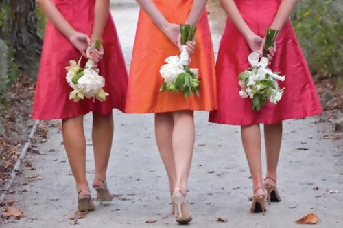 Blog #249 - Orange and Pink Bride's Maid Dresses